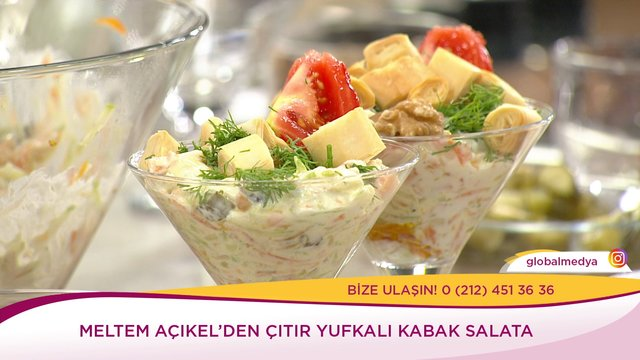 Çıtır Yufkalı Kabak Salata