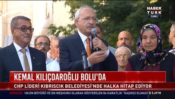 Kemal Kılıçdaroğlu Bolu'da