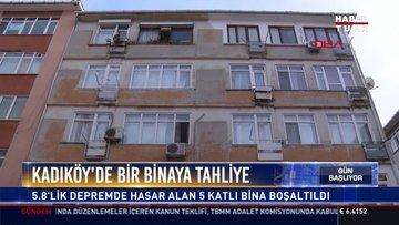 Kadıköy'de bir binaya tahliye