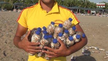 Yok böyle koleksiyon...52 şişede 15 bin izmarit