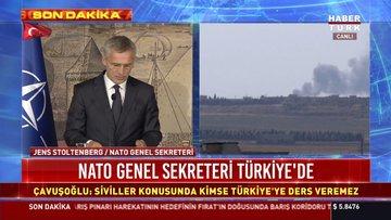 NATO Genel Sekreteri Jens Stoltenberg, Dışişleri Bakanı Mevlüt Çavuşoğlu ile görüşmek üzere Dolmabahçe'ye geldi