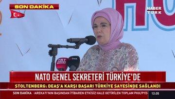Emine Erdoğan Mehmetçiğe başarılar diledi