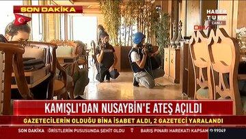 Son Dakika: Gazetecilerin olduğu bina isabet alındı, 2 gazeteci yaralandı!