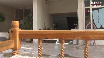 Akçakale'de basın mensuplarının bulunduğu otelin yakınlarına havan topu böyle düştü