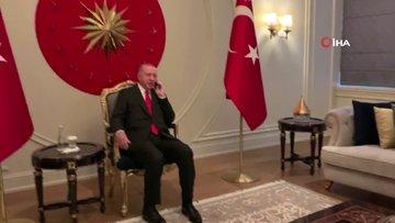"""Cumhurbaşkanı Erdoğan'dan Bahçeli'ye """"geçmiş olsun"""" telefonu"""