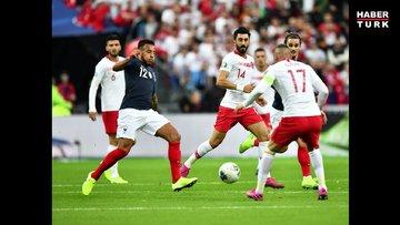 Fransa Türkiye maçı ilk yarısından kareler
