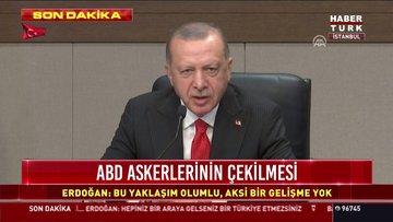 Cumhurbaşkanı Erdoğan'dan Suriye'deki ABD askerleri yorumu