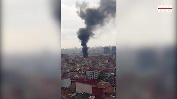 Üsküdar Ünalan mahallesinde çıkan yangın korkuttu