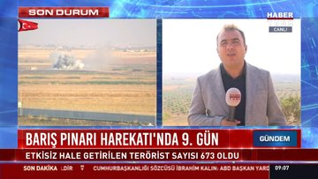 Barış Pınarı harekatı'nda 9. gün
