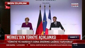 Merkel: Türkiye operasyonu durdurmalı