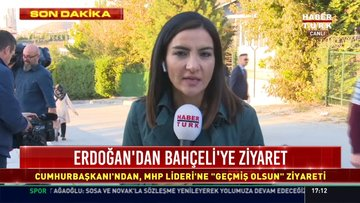 Cumhurbaşkanı Erdoğan, Bahçeli'yi ziyaret