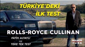 Rolls Royce Cullinan'ı Türkiye'de ilk kez Fatih Altaylı test etti