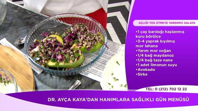 Açlığı yok etmeye yardımcı avokado salatası