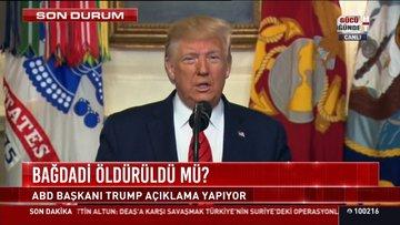 Trump: Bağdadi öldürüldü