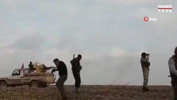 Tel Tamr'da SMO askerlerinin YPG'li teröristlerle çatışma anı görüntülendi