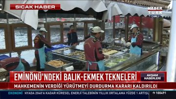 Eminönü'ndeki balıkçıların tahliyesi için yürütmeyi durdurma kararı kaldırıldı