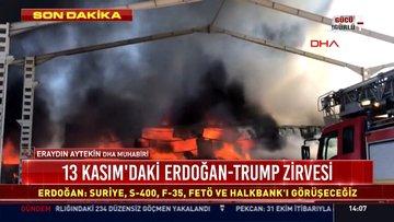 Sivas'ta organize sanayi bölgesinde yangın çıktı