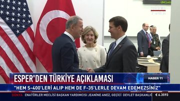 Esper'den Türkiye açıklaması