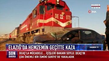 Elazığ'da hemzemin geçitte kaza