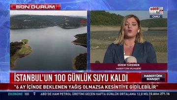 İstanbul'un 100 günlük suyu kaldı