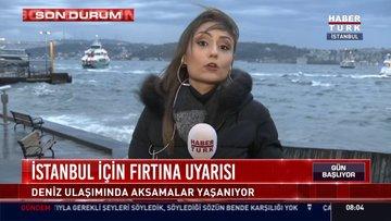 İstanbul için fırtına uyarısı!