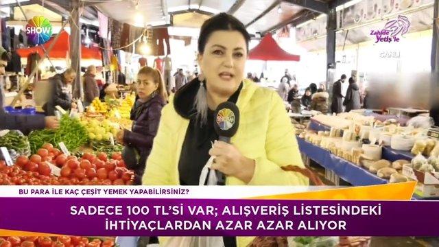 100 lira ile zengin pazar alışverişi