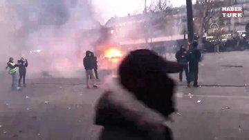 Genel grev Fransa'da hayatı felce uğrattı