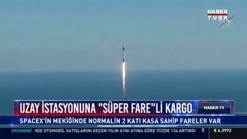 Uzay İstasyonuna ''Süper Fare''li kargo