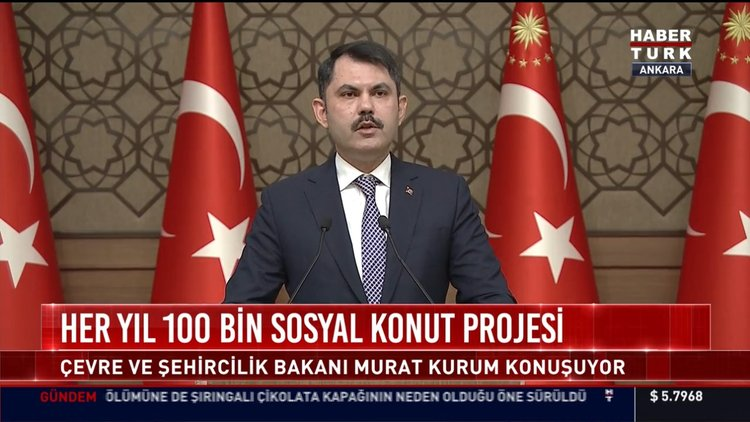 Çevre ve Şehircilik Bakanı Murat Kurum konuşma yaptı