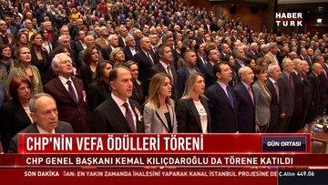 CHP'nin Vefa Ödülleri töreni