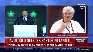 Davutoğlu Gelecek Partisi'ni tanıttı