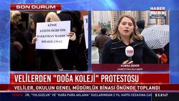 """Velilerden """"Doğa Koleji"""" protestosu"""