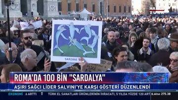 """Roma'da 100 bin """"sardalya"""""""