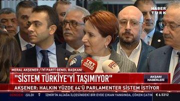 """Meral Akşener. """"Sistem Türkiye'yi taşımıyor"""""""