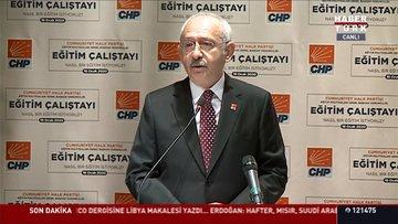 Kılıçdaroğlu CHP Eğitim Çalıştayı'nda konuştu