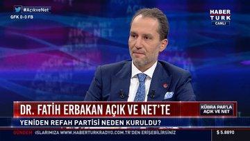 Yeniden Refah Partisi Genel Başkanı Fatih Erbakan, Habertürk'e konuştu