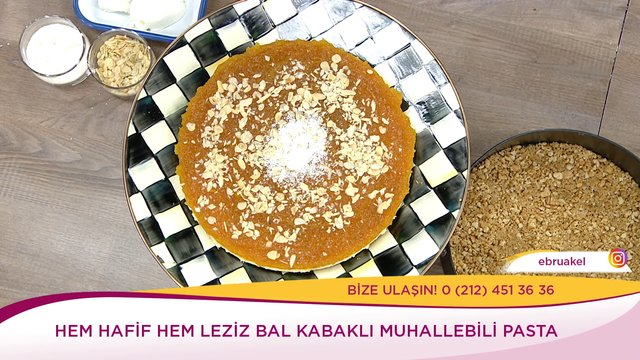 Bal Kabaklı Muhallebili Pasta