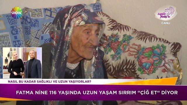 119 yaşındaki Fatma Nine'nin uzun yaşam sırrı; çiğ et!