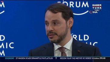 Hazine ve Maliye Bakanı Berat Albayrak Davos'ta konuştu
