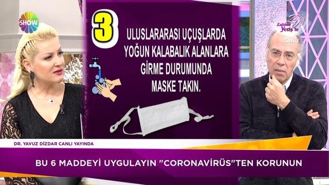 6 madde ile Corona virüsünden korunabilirsiniz!