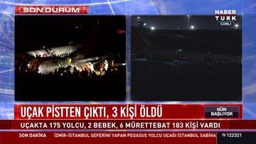 Uçak pistten çıktı 3 kişi öldü