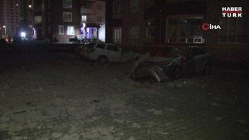Kayseri'de şiddetli rüzgar çatıları uçurdu, ağaçları yerinden söktü
