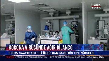 Koronavirüs'te 24 saatte 108 ölü! Can kaybı yükseldi!