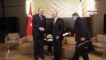 Cumhurbaşkanı Erdoğan, Putin ile görüştü!