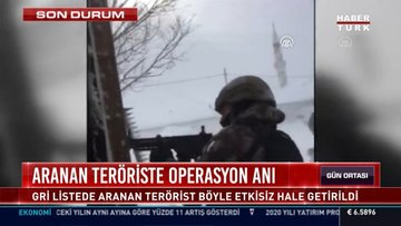 Aranan teröriste operasyon anı