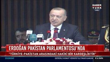 Erdoğan Pakistan Parlamentosu'nda