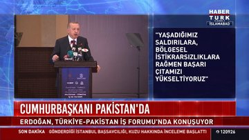 Cumhurbaşkanı Erdoğan, Türkiye-Pakistan İş Formu'nda konuşma yaptı