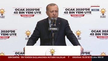 Cumhurbaşkanı Erdoğan AK Parti İl örgütündeki ödül töreninde konuştu