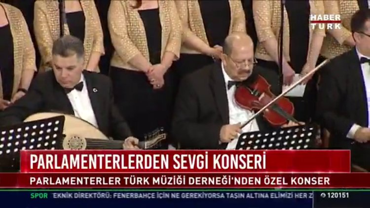 Parlamenterlerden sevgi konseri