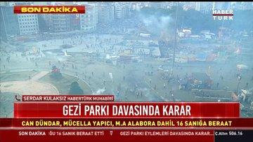 Gezi parkı davasında karar